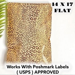 50 14X17 Leopard Poly Mailers PRICE IS FIRM